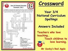 ks2 crossword year 3 4 spelling national curriculum