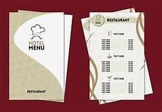 hotel menu card template free hotel menu professional template vector free