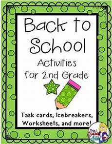 back to school activities for 2nd grade back to first week and math