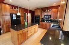 Kitchen Backsplash Black Countertop by Black Quartz Countertop With Black Subway Tile Backsplash