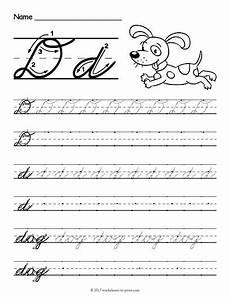 letter d cursive handwriting worksheets 24199 free printable cursive d worksheet cursive worksheets cursive writing worksheets cursive