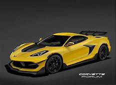 This Rendering Of The 2020 Chevy C8 Corvette ZR1