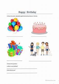 happy birthday worksheets esl 20219 happy birthday esl worksheets
