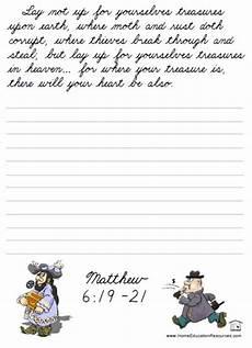 handwriting worksheets bible verses 21310 printable bible cursive worksheet packet free for penmanship or handwriting practice edfl