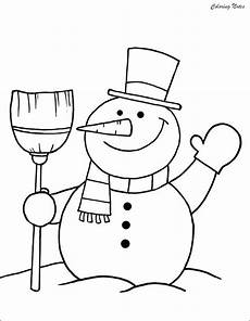 20 snowman coloring pages for easy free and