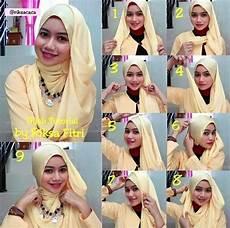 Tutorial Jilbab Segi Empat Acara Pesta Ragam Muslim