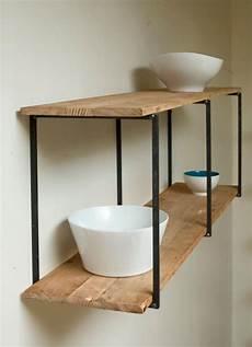 mensole ferro mensole e top in legno massello mensola in castagno massello