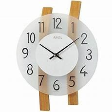 Uhr Malvorlagen Xl Ams W9203 Quarz Wanduhr Holz Mehrfarbig 35 X 35 X 12 C