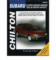 online auto repair manual 1995 subaru legacy parking system subaru impreza legacy justy xt svx brat and 1 6 1 8 l series 1985 96 sagin workshop