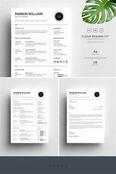 markin william minimal resume template 67728