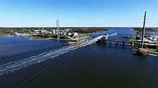 topsail island swing bridge in action youtube