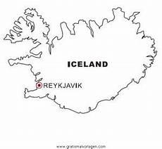 Malvorlagen Urlaub Island Island Gratis Malvorlage In Geografie Landkarten Ausmalen