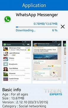 application whatsapp voice calls now live for the tizen samsung z1 iot gadgets