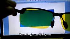 polarized test for vision driving sunglasses