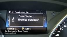 Infotainment Check Ford Focus Bordcomputer