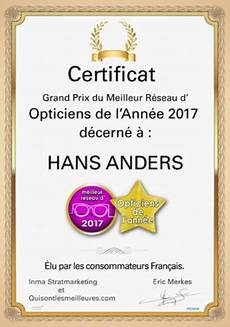 hans anders 233 lu meilleur r 233 seau d opticiens de l 233 e