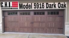 C S Garage Doors by C H I Model 5916 Oak Garage Door