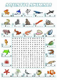 animal word search worksheets 14374 aquatic animals wordsearch worksheet free esl printable worksheets made by teachers