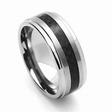 men 9mm comfort fit tungsten carbide wedding band black carbon fiber inlay ring ebay