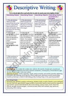 writing descriptive essays esl worksheet by pirchy