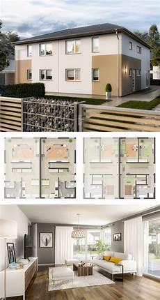 moderne doppelhaushälfte grundrisse doppelhaus architektur modern grundriss mit walmdach