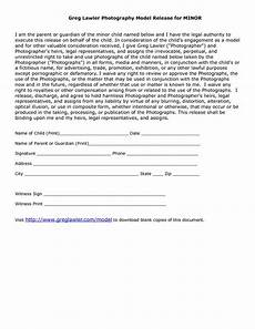 minor model release form template photography pinterest model release form template