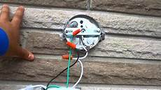 install light box in wall how to change an outdoor light fixture by yourself youtube