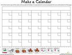 make a calendar worksheet education com