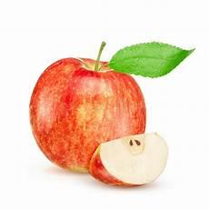 Malvorlage Apfel Mit Blatt Roter Apfel Mit Blatt Und Scheibe Stockfoto Bild