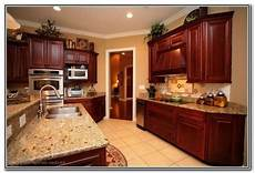 pretty house ideas cherry wood kitchen cabinets