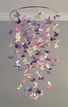 Butterfly Chandelier Mobile In Purple And By