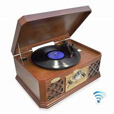 Retro Sound Phonograph Record Player Bluetooth pylehome ptcd4bt home and office turntables