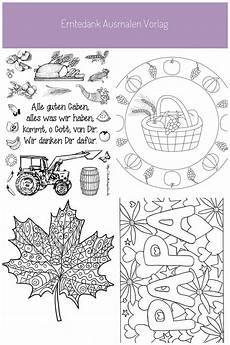 Ausmalbilder Herbst Erntedank Erntedank Ausmalen Vorlage Ausmalbilder Basteln