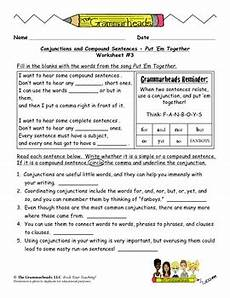 conjunctions worksheet pack by the grammarheads teachers pay teachers
