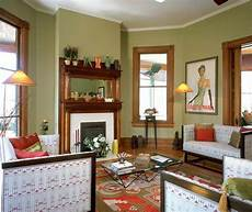 green with wood trim interior of victorian homes with green walls victorian living room