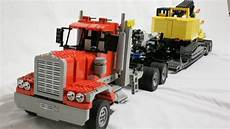 lego truck lego rc semi truck and gooseneck trailer
