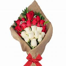 ramo de 25 rosas flores y chocolates