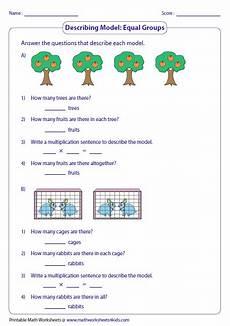 multiplication sentence worksheets for grade 3 4813 multiplication models worksheets