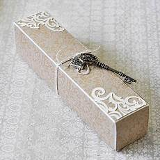how to decorate a scroll box for diy wedding invitations