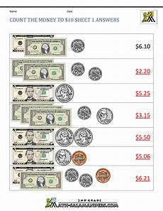comparing money worksheets for grade 2 2632 printable money worksheets to 10