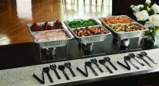 party essentials set serving buffet 33 pc food tray forks