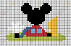mickey pixel fichas de primaria cuadr 237 culas de mickey mouse