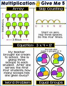 multiplication strategy worksheets grade 3 4815 multiplication give me 5 poster and worksheet free students show the equation array skip