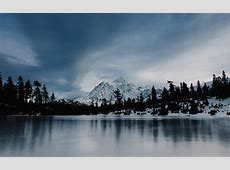wallpaper for desktop, laptop   ni37 frozen lake winter