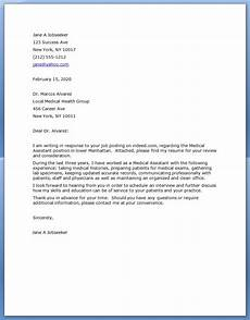 cover letter for medical assistant gplusnick
