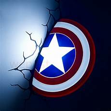 new 3d avengers alliance captain america shield creative led wall l night light living room