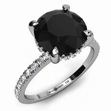 black diamond engagement rings home lascel 4 00ct