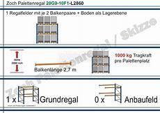 palettenregal 20g9 70f1 l 228 nge 2860 mm mit 700kg je