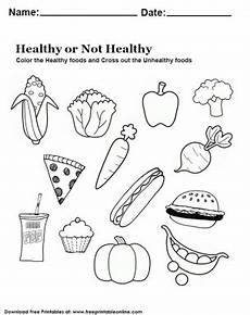 use this free printable worksheets so that your students can determine which food is healthiest