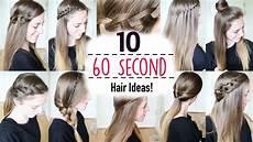 ten 60 second heatless hairstyles 1 minute hairstyles quick hairstyles braidsandstyles12